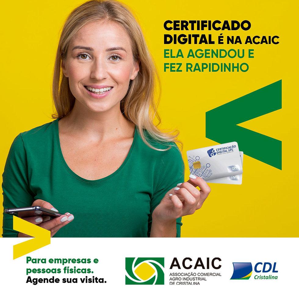 Certificado Digital é na ACAIC