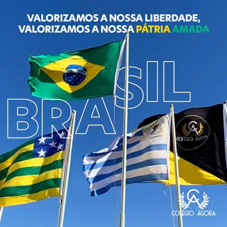 Valorizamos a nossa Pátria Amada, Brasil!