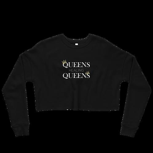 Queens Healing Queens - Fleece Crop Top Sweatshirt