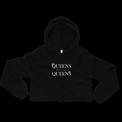 Queens Healing Queens - Fleece Crop Top Hoodie