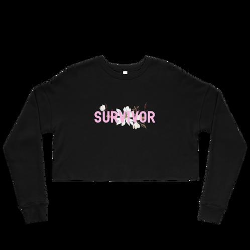 Survivor - Fleece Crop Top Sweatshirt