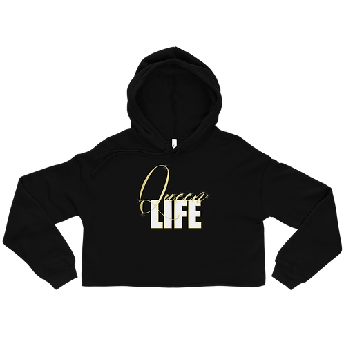 Queen Life - Fleece Crop Top Hoodie
