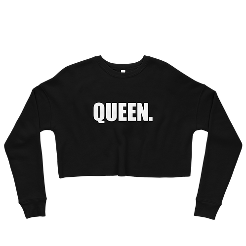 QUEEN - Fleece Crop Top Sweatshirt
