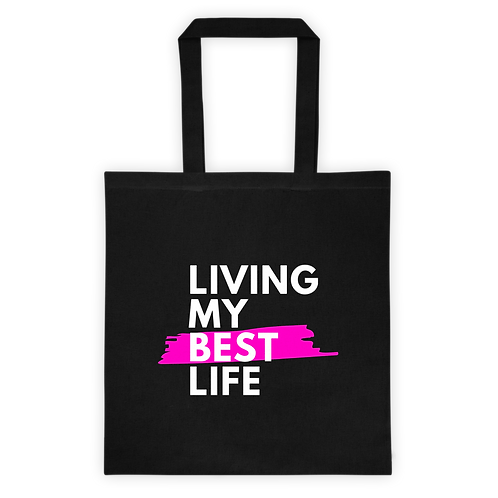 Living My Best Life - Canvas Tote Bag