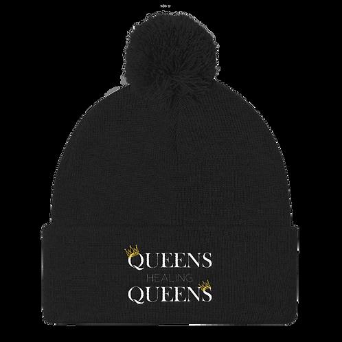 Queens Healing Queens - Puff Ball Beanie