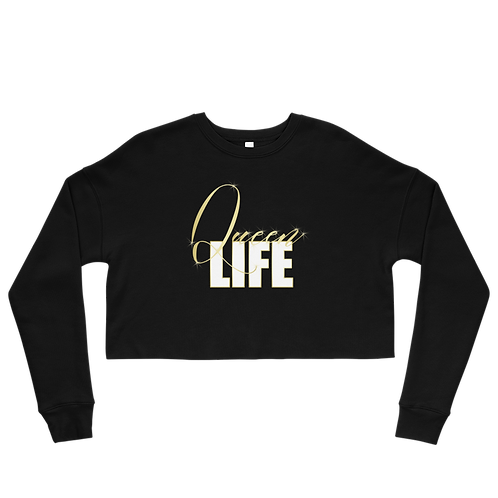 Queen Life - Fleece Crop Top Sweatshirt