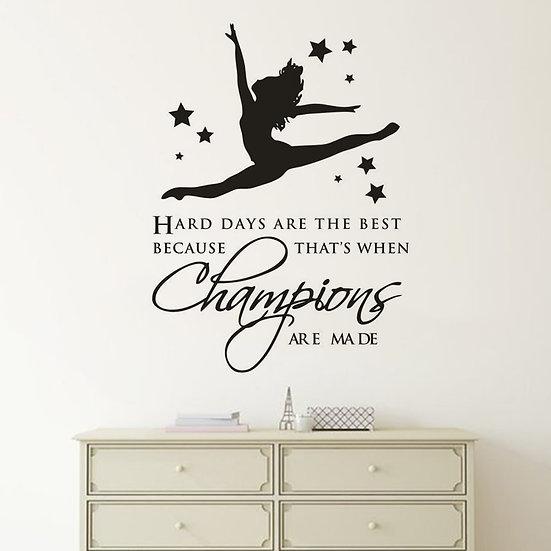 Gymnastic Dancing Girl Wall Stickers
