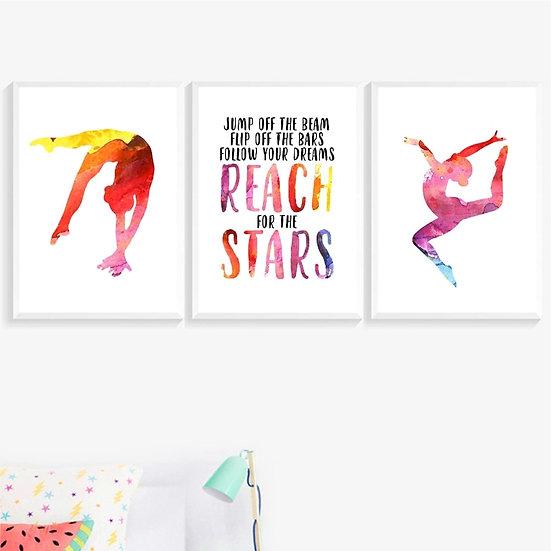 Gymnastics Wall Art Canvas Prints