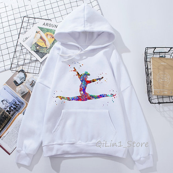 Gymnastics Girl Design Hoodie Sweatshirt Hoodies