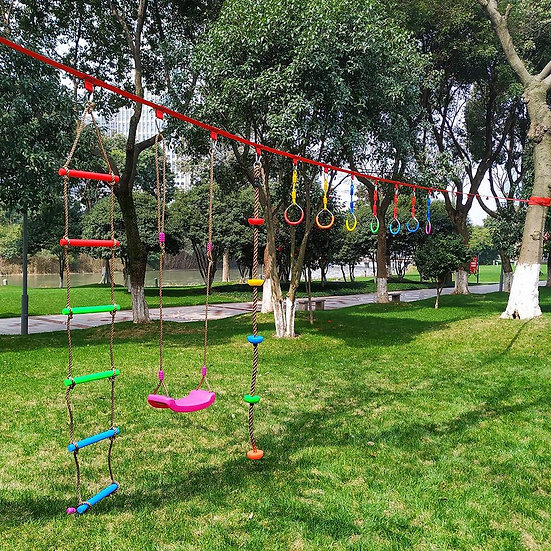 3pcs Children Outdoor Gymnastic Kids Increase Ninja Obstacle Course