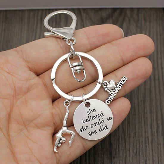 I Love Gymnastics Gymnast Keychain Gifts