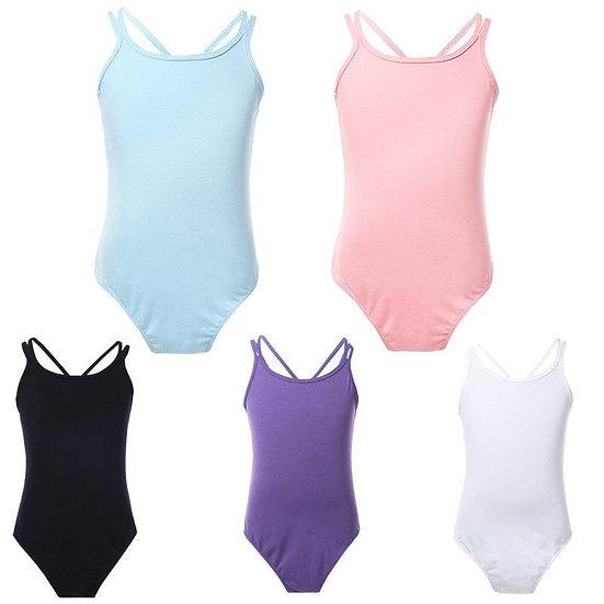 Leotards Cotton Girls Dancewear Gymnastics Leotard Strap Leotard