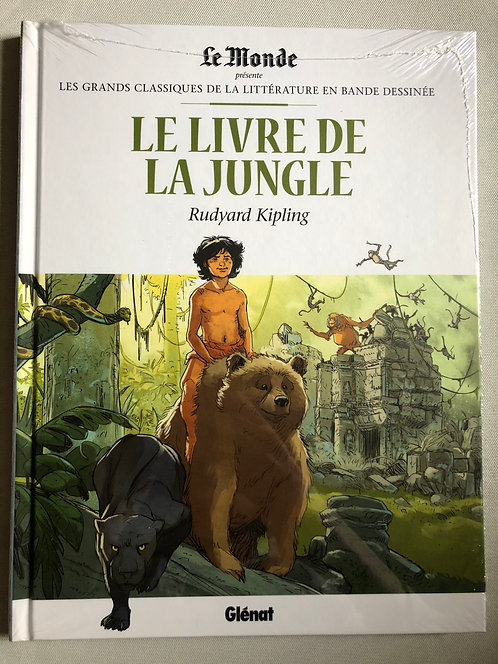 Le Livre de la Jungle-Les Grands classiques de la littérature Le Monde / Glénat