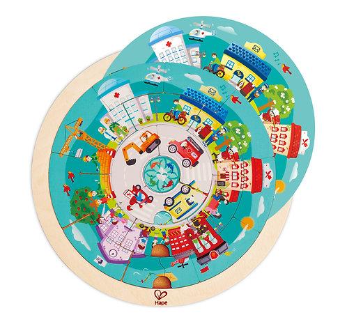 Puzzle rotatif des métiers