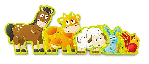 Chiffres et animaux de la ferme