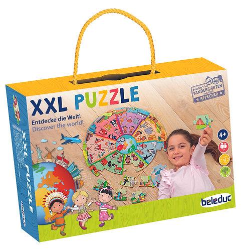 """Puzzle d'apprentissage XXL """"Découvrez le monde"""""""