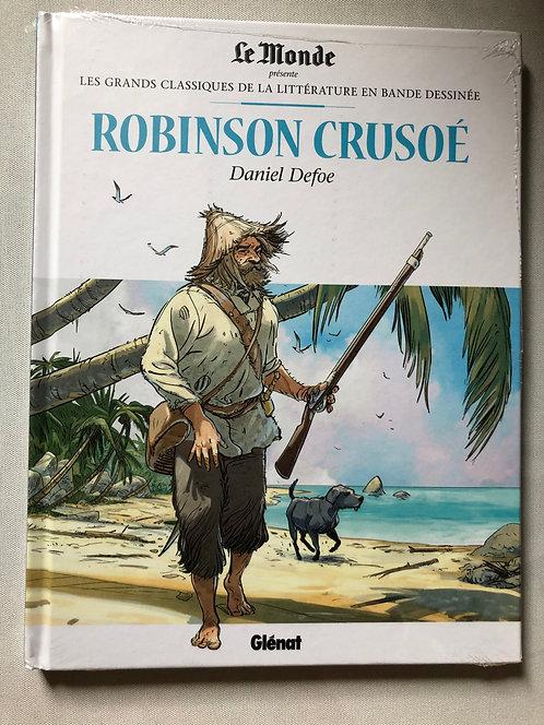 Robinson crusoé - Les Grands classiques de la littérature Le Monde/Glénat