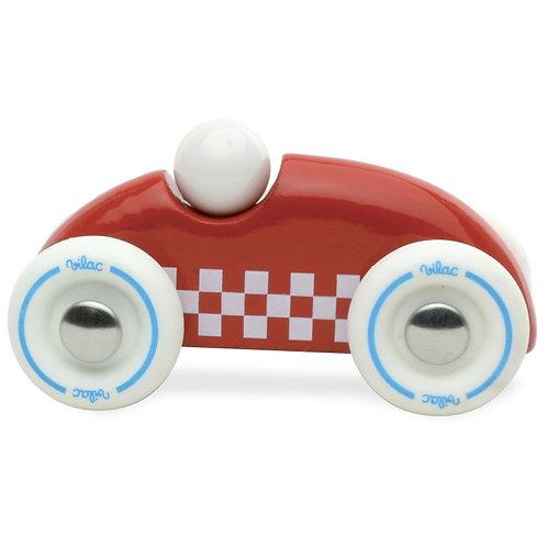 Mini rallye checkers en bois naturel