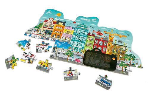 Puzzle ville animée