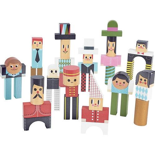 Les bonhommes en cubes