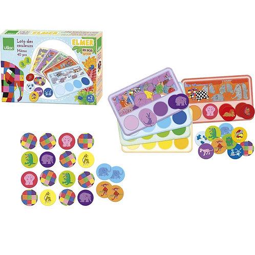 Loto-Mémo des couleurs Elmer*