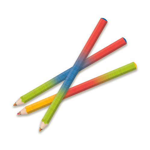 Lot de 24 crayon arc-en-ciel