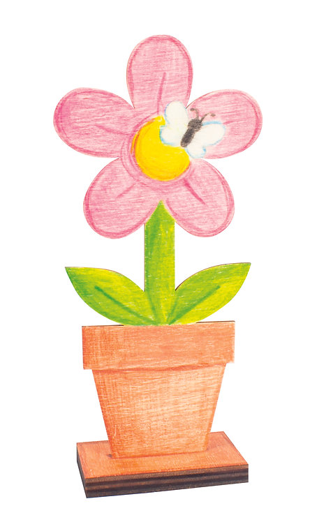Lot de 3 fleurs à colorier