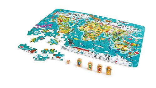 Puzzle et jeu 2 en 1 Tour du monde
