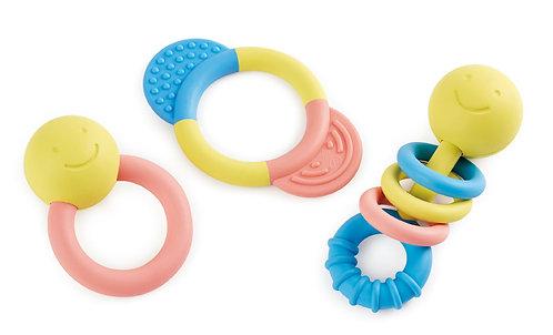 Collection d'anneaux à cliquetis et de dentition