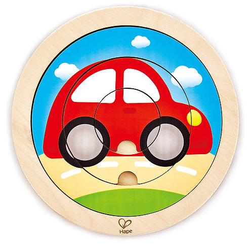 Puzzle rotatif transport