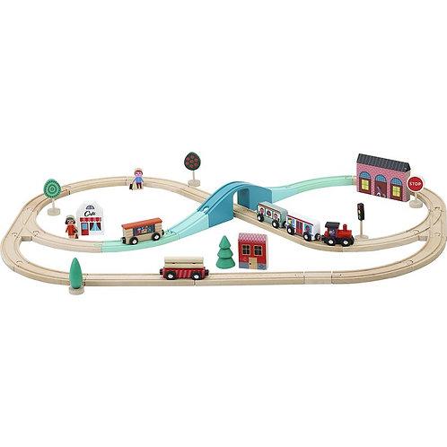 Circuit de train grand express illustrés par Ingela P.Arrhenius