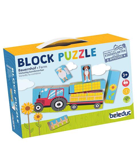 """Puzzle en blocs - """"Ferme"""""""