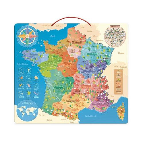 Carte de France éducative magnétique