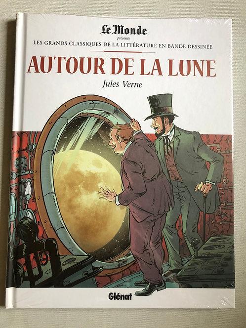 Autour de la lune - Les Grands classiques de la littérature Le Monde/Glénat