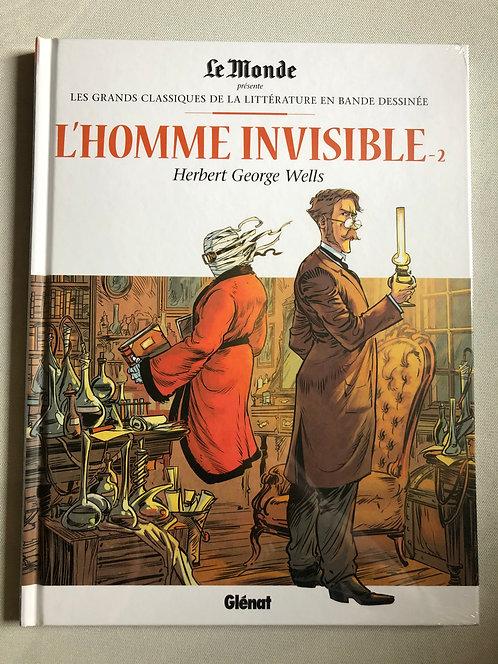 L'Homme Invisible 2 - Les Grands classiques de la littérature Le Monde/Glénat