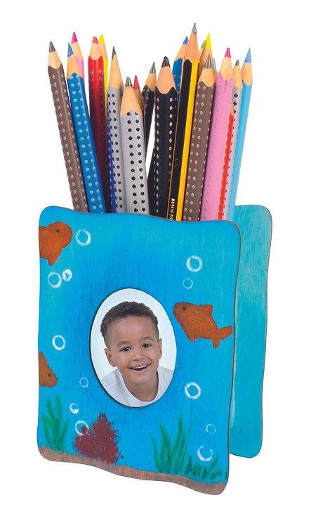 Porte crayon avec cadre photo