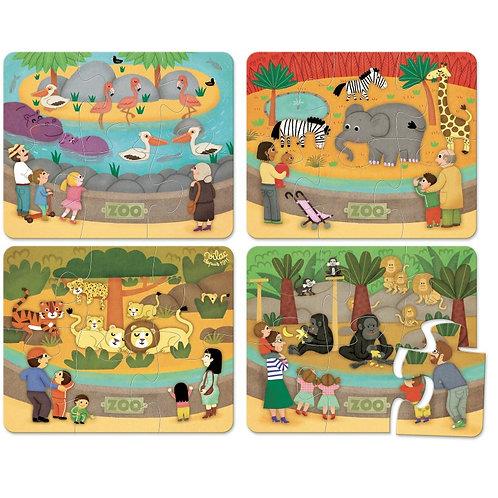 Puzzles les animaux du zoo
