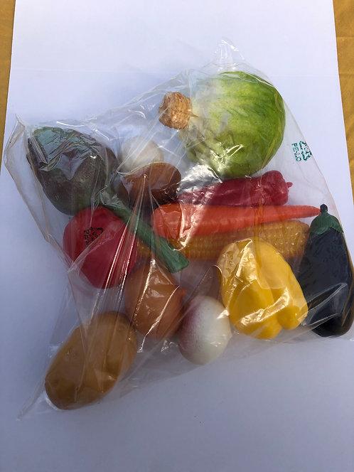 Légumes x12 Aliments en plastique