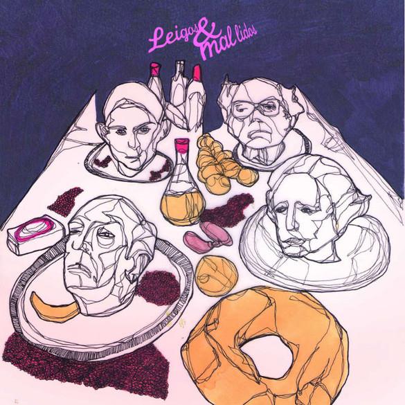 Ilustração de Leonardo Mathias para o livro recria a capa do primeiro disco dos Secos & Molhados
