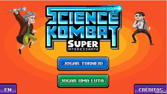 Tela inicial do game Science Kombat