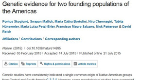 Genetic evidence for two founding populations of the Americas