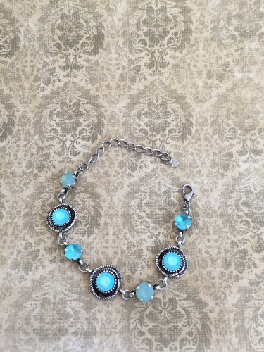 9309b49e8 Swarovski Custom Blue Bracelet