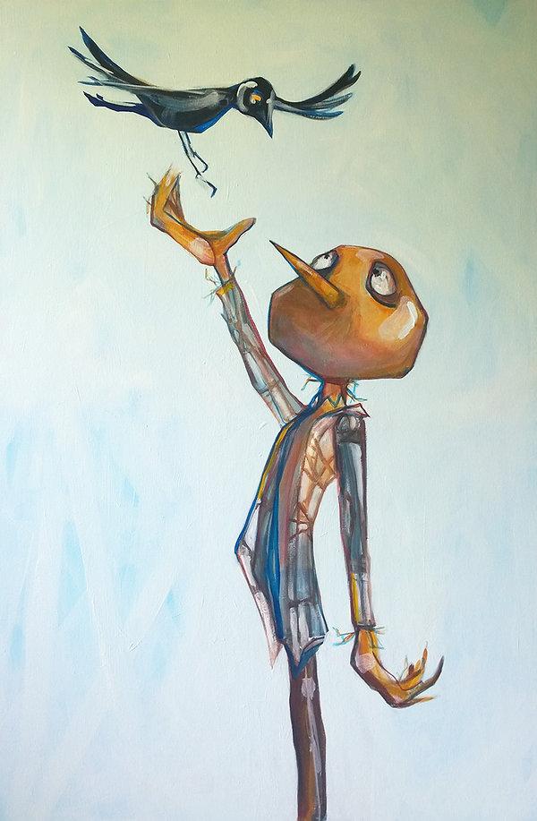 jane stadermann, original painting, artist, scarecrow, illustrator, Sydney, art, gallery, buy, original, cool art