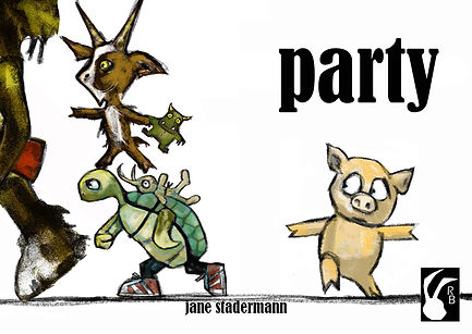 Rabbit Books, childrens book publisher, independent publisher, Sydney, Party, Piggy, Fairytales, Picture book, Jane Stadermann