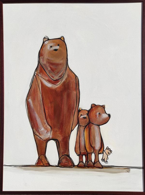 mama bear, origial art, bears, jane stadermann