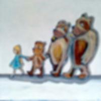 Goldilocks and the Three Bears orginal painting by JaneStadermann