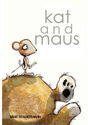 kat and maus, jane stadermann, picture book, ilustration, handmade boo