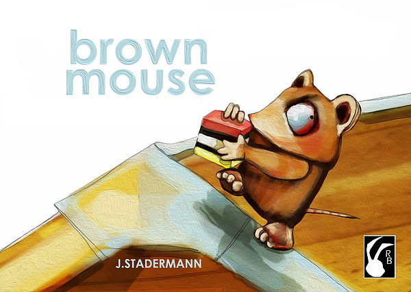 Brown Mouse by Jane Staderman, picture book, rabbit books, handmade boo