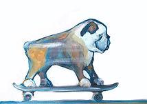 tis, the illustration shop, jane stadermann, cool prints, australian art, dog on skateboard, online art, online art australia, dog art, cool posters