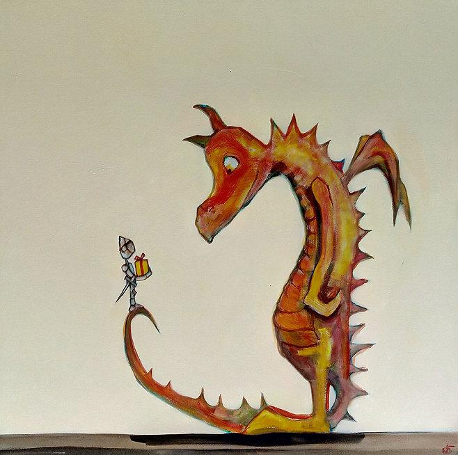 dragon painting by jane stadermann